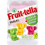Fruittella Koalas Caramelle Gommose, Gusto Frutti Assortiti con Succo di Frutta, Vegan senza Gelatina Animale e senza Glutine