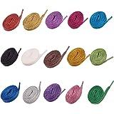 PandaHall 15 Paia Lacci per Scarpe Glitter Scarpa Piatta Laccio in Poliestere per Scarpe da Ginnastica Scarpe da Ginnastica i