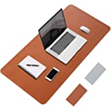 LeadsaiL Desk Writing Mat, 80 * 40cm Extended Large PU Leather Laptop Desk Pad, Dual-Sided, Waterproof, Easy to Clean, Non-Sl