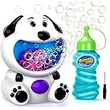 EPCHOO Máquina de Burbujas para Niños, Juguete de Baño para Bebés Maquina Pompas Jabon Automática Perrito, con 1 Botellas de