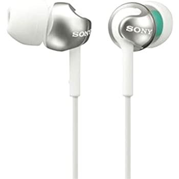 Sony MDR-EX110LP EX Monitor In-Ear-Headphone (White)