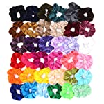 36 Pcs Hair Scrunchies, WooyMo Velvet Elastic Hair Bands Hair Ties Ropes, Hair Stylish Ponytail Accessories for Women and...