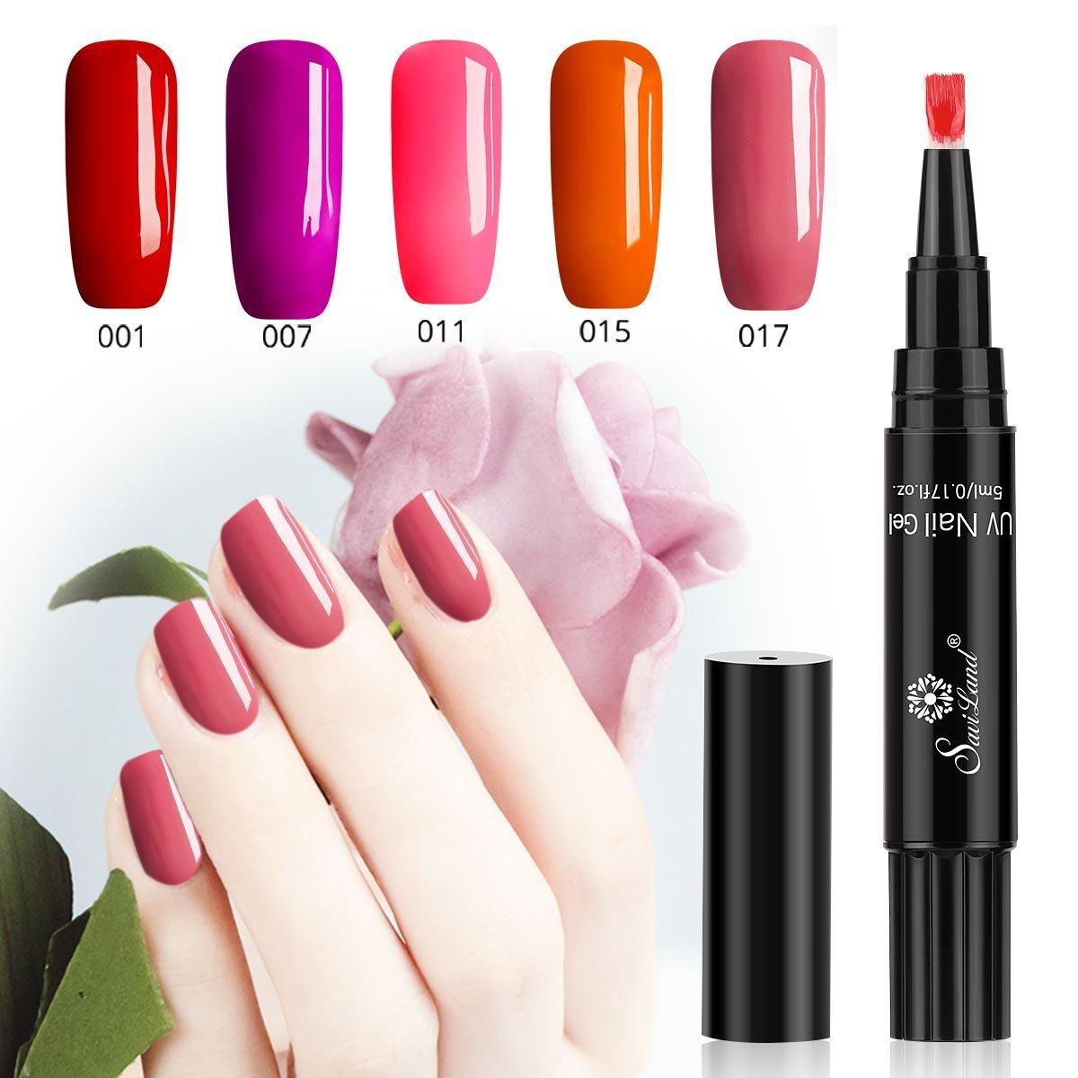 Bolígrafo de gel para uñas de One Step, no necesita capa base, Saviland 3 en 1, se seca con luz UV LED