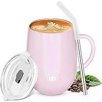 Amazon Brand - Umi Kaffeebecher to go 360ml, Thermobecher Edelstahl Isolierender Wiederverwendbarer Kaffeebecher BPA…