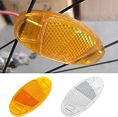 Yunso 1 Paar Starkreflektierende Speichen-Reflektor/Katzenaugen-Reflektoren/Fahrrad-Speichen-Reflektoren