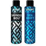 Amazon Brand - Solimo Gas Deodorant - Pack of 2 (ThunderBolt, Sea Drift)