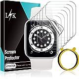 LϟK 6 Pack Protector de Pantalla para Apple Watch 38mm Series 1 2 3 - HD Película de TPU Flexible Sin Burbujas Funda Compatib