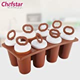 Chefstar Plastic Ice Candy Maker Kulfi Maker Moulds Set, Brown