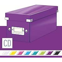 Leitz CD Storage Box, Purple, Click and Store Range, 60410062