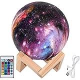 Mond Lampe 3D Nachtlicht 15cm LED Mond Lampe Fernbedienung Farbige Dekoleuchte Mondlicht Sternenhimmel Nachtlicht mit Touchschalter Dimmbar 16 Farben für Weihnachten Geburtstagsgeschenk von Upstartech