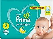 Prima Yenidoğan 2 Numara Bebek Bezi 90 Adet Fırsat Paketi