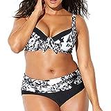 Très Chic Mailanda Bikini Taglie Forti Donna Costumi da Bagno Due Pezzi Vita Alta Plus Size Spiaggia Boemo Reggiseno Coordina