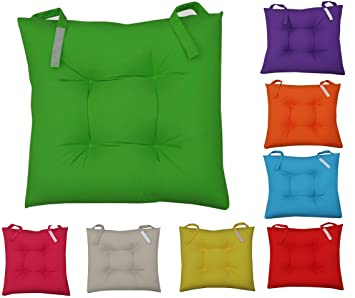 chair cushions amazon. new colourful seat pad dining room garden kitchen chair cushions - velcro tie on (green): amazon.co.uk: kitchen \u0026 home chair cushions amazon n