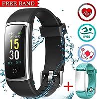 LATEC Orologio Fitness Tracker Android iOS Cardiofrequenzimetro Monitor per la Pressione del Sangue Impermeabile IP68...