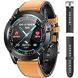 """AGPTEK Smartwatch Uomo Orologio Fitness con Cinturino di Ricambio Touchscreen 1.3"""" Cardiofrequenzimetro da Polso Contapassi A"""