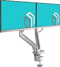 """ONKRON Monitor Tischhalterung mit Gasdruckfeder für 17""""- 27 Zoll LED LCD Bildschirmen bis 6,5 kg VESA 75 x 75 – 100 x 100 G80 Schwarz"""