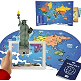 PLAYAUTOMA Explore World - Fun Educational, Jigsaw World Map Floor Puzzle, Interactive Augmented Reality Learning Games…