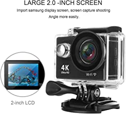 Stylebeats Action Camera 4K WiFi Camera 2-inch LCD 170 Degree Wide Angle Lens Waterproof Diving(Upto 30m) Sport Camcorder