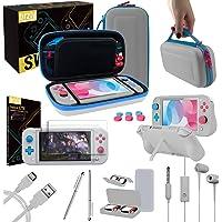 Orzly Kit Accessori per Nintendo Switch Lite - Include: Custodia e Pellicola Protettiva Switch Lite, Grip Case Cover…