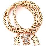 Braccialetto di fascino per le donne Braccialetto a catena stretch Braccialetto in oro dorato per bracciale