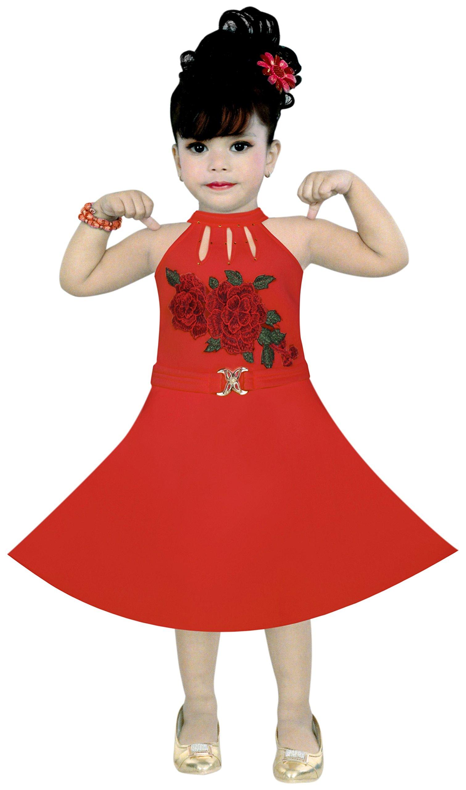 9369bb64d BENKILS Cute Fashion Baby Girl s Soft Skuba Party wear Frock Dress ...