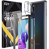 EGV Compatibile con Samsung Galaxy A21S Protector de Pantalla,2 Pack Cristal Templado e 2 Pack Protector de Lente de Cámara