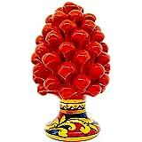 sicilia bedda - Pigna in Ceramica di Caltagirone con Decorazione Maioliche Siciliane - Realizzata e Dipinta a Mano - Altezza