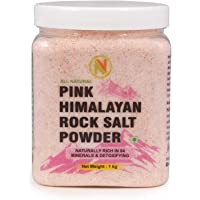 Nature Vit Himalayan Pink Rock Salt Powder, 1 Kg [Jar Pack]