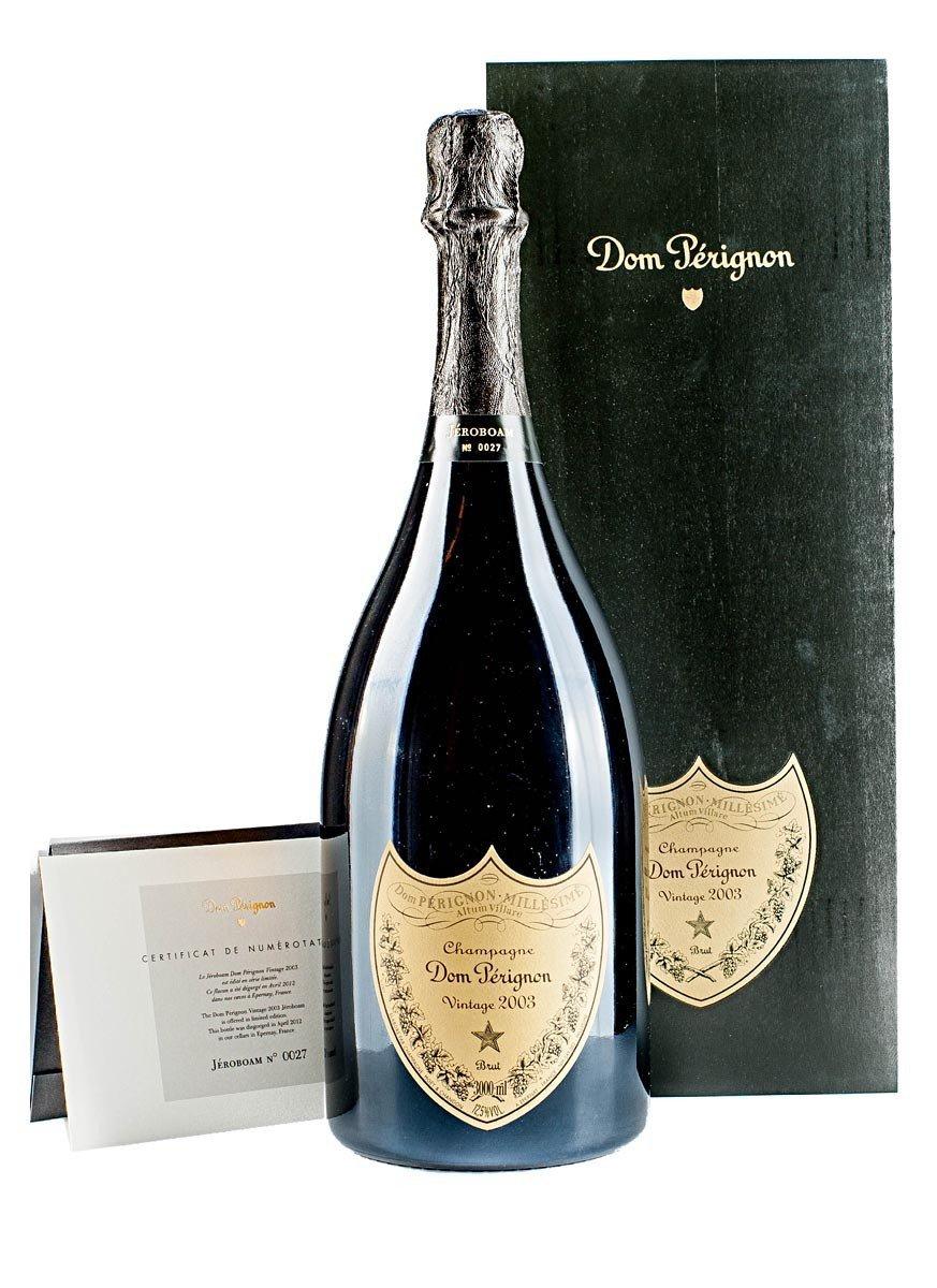 Dom Perignon Brut Champagne with Jeroboam 2003 Gift Box 300 cl