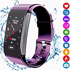amazqi Fitness Tracker HR, Smart Armband Activity Tracker mit Farbdisplay Blutdruck Herzfrequenz Schlaf Monitor IP67 Wasserdicht für Android iPhone Erwachsene Kinder