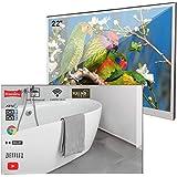 Soulaca - Espejo de 22 pulgadas Smart TV IP66 impermeable para cuarto de baño, hotel con mando a distancia (modelo 2019 lo má