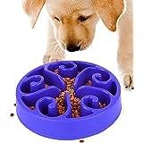 Gamelle Anti Glouton Chiens - Gamelle D'alimentation Lente pour Chiens, Antidérapante en Forme de Labyrinthe pour Animal Dome