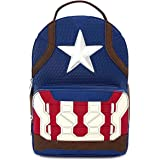 Loungefly Captain America End Game Hero Mini Faux Leather Backpack MVBK0096, Blue,One Size, LF MVBK0096, Loungefly BackPack