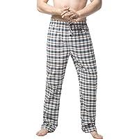 LAPASA Men's Pyjama Bottoms 100% Cotton Checked Flannel & 100% Woven Cotton Plaid Pants Loungewear Nightwear Trousers…