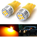 iJDMTOY (2) JDM Amber Yellow 4-SMD High Power LED Side Mirror Replacement Bulbs Compatible With 2007-2014 Toyota FJ Cruiser