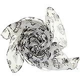 EOZY-Sciarpa da Donna Cranio Teschi Stampati Scarf