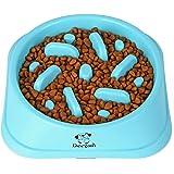 Decyam Gamelle Anti Glouton Chien Gamelle d'alimentation Lente avec Base Antidérapante Favorise Une Alimentation Saine Et Une