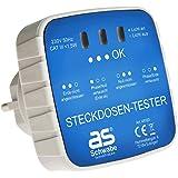 as - Schwabe Aansluitstekker - diagnosestekker met indicatielampjes-indicator - controle van de juiste bedrading in geaarde s