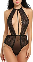 27dd836c02 ELEVANTO Collection Women Teddy Lingerie One Piece Babydoll Mini  Bodysuit(T8)