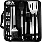trounistro BBQ Barbecue Tool Set, 20 Pcs Stainless Steel Barbecue Accessories with Storage Bags, Complete Outdoor Barbecue Gr