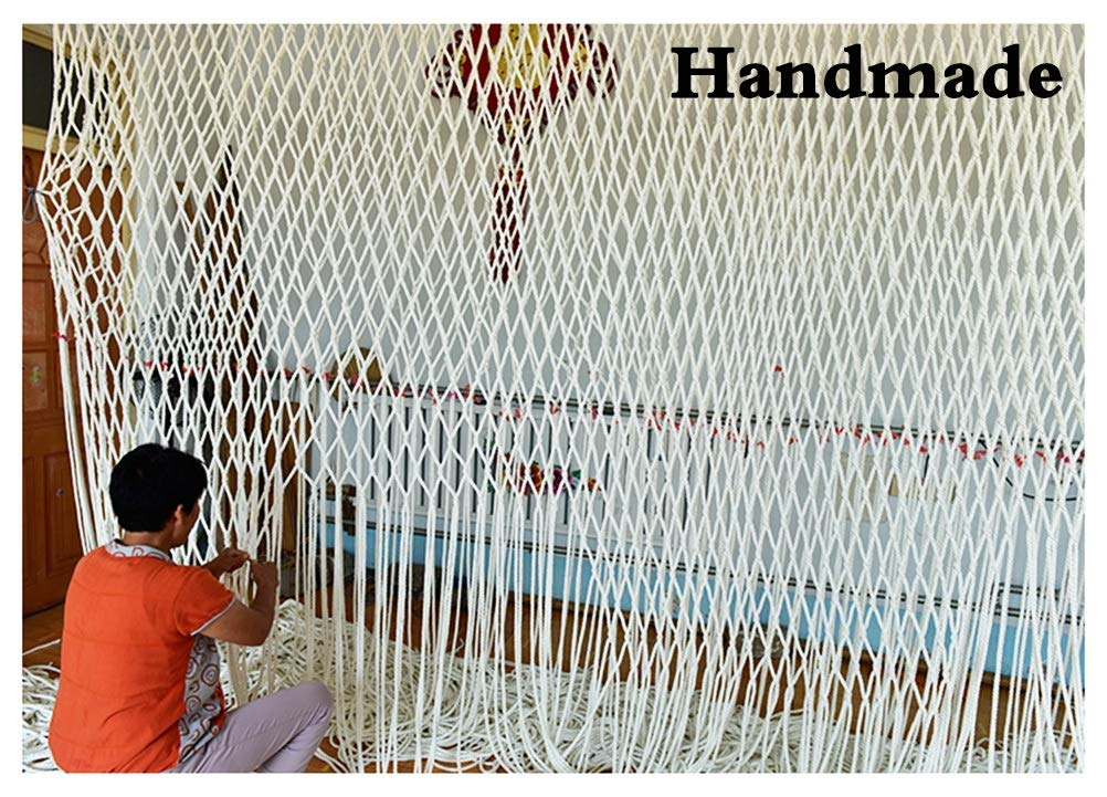 Children's Climbing Net, Color Rope Net, Fence Net, Pet Cat Stair Anti-fall Net, Garden Plant Protection Net, Wall Ceiling Amusement Park Decoration Net Size: 1×5M (Size : 3 * 7M)  ✪ Material: Polyester braided rope, hand-tightened, so that the mesh has greater tensile strength and strong impact resistance. Climbing Net. ✪ Three strands of rope: Woven with three strands of rope, precision wiring, workmanship, high temperature baking, dyeing, anti-corrosion, waterproof, sunscreen, anti-reinforced braided rope is not easy to break, durable. Climbing Net. ✪ Hand-woven: Lightweight child safety stair protection net, high-grade sturdy fabric, professional knotting, multi-strand weaving, make the rope more durable, has strong impact resistance, and protect children's safety. Climbing Net. 6
