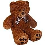 Deuba Teddy | Größe L 50cm | Farbe Braun | Allergiker geeignet | Teddybär Kuscheltier Stofftier Plüschbär Plüschtier Teddi