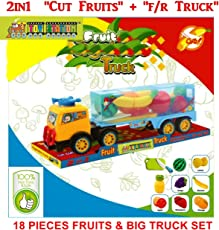 TOY-STATION - CUT FOOD - FRICTION TRUCK - DOORS OPENING @ BACK (FRUIT TRUCK)