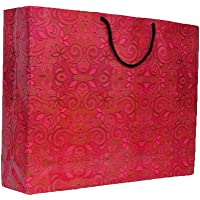 A&A Bags Printed Laminated Large Paper Bag (13X17X 4-Inch) - Pack of 10
