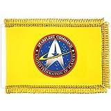 Bandiera da Tavolo Deluxe Ufficiale Star Trek Starfleet Command Gialla cm. 16x24 (Stand Non Incluso)