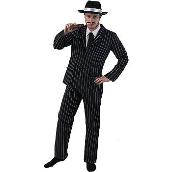 Adulti 1920 – Costume da gangster per uomo – bianco e nero a righe completo  giacca 488f760a31d