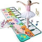 LEADSTAR Alfombra de Piano,Alfombra Musical con 8 Animales Sonidos,Touch Alfombra Musical Teclado,Juguetes Musicales para Beb
