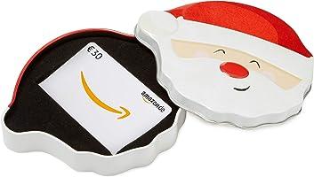 Amazon.de Geschenkkarte in Geschenkbox (Lächelnder Weihnachtsmann)
