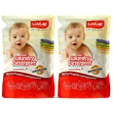 LuvLap Baby Laundry Liquid Detergent, Food Grade, Refill Pack, 1000ml (Pack of 2)