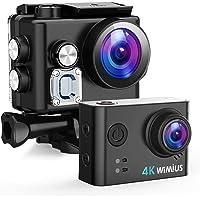 WiMiUS Action Cam 4K 20MP WiFi HD Impermeabile Fotocamera 40M Videocamera Sportiva 170 Gradi Grandangolare con 2…